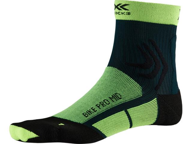 X-Socks Bike Pro Mid Socks phyton yellow/pine green